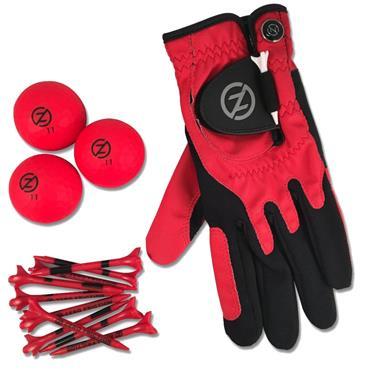 Zero Friction Supertube [LH Glove/3 Balls/10 Tees] Ladies Neon Red