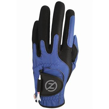 Zero Friction Gents Perf. Syn. Uni Fit Glove Left Hand Blue