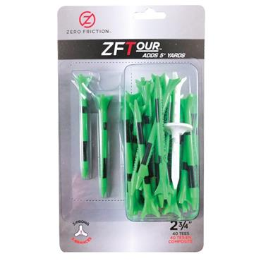 "Zero Friction 3 Prong Tour Tee 2 3/4"" 40 Pack Citrus Green"