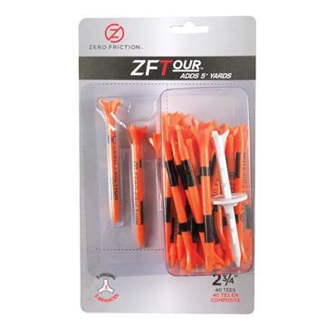 """Zero Friction 3 Prong Tour Tee 2 3/4"""" 40 Pack Orange"""