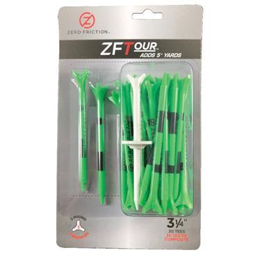 "Zero Friction 3 Prong Tour Tee 3 1/4"" 30 Pack Citrus Green"