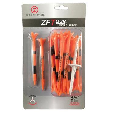 """Zero Friction 3 Prong Tour Tee 3 1/4"""" 30 Pack Orange"""