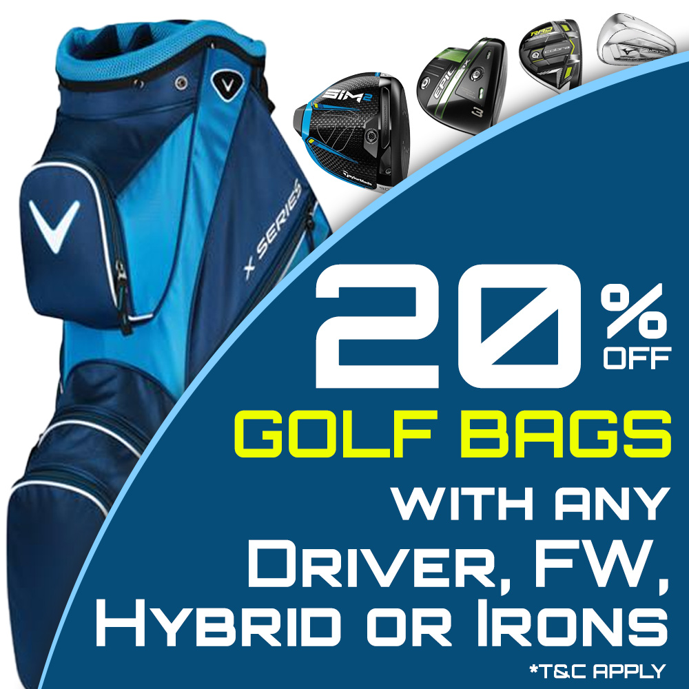 20% Off Golf Bags
