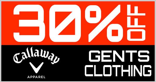 30% Off Callaway Gents Clothing