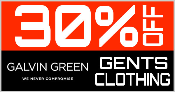 30% Off Galvin Green Gents Clothing