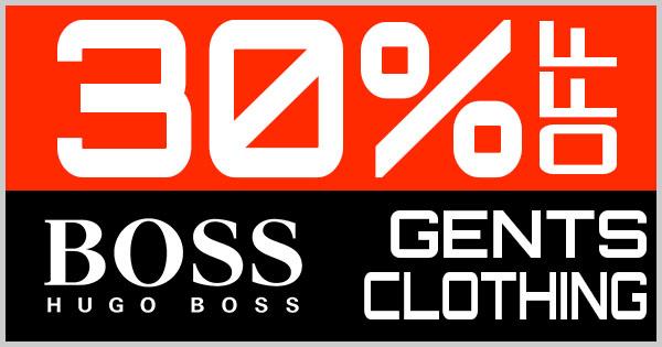 30% Off Hugo Boss Gents Clothing