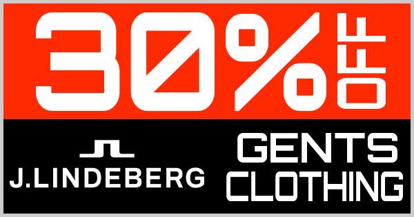30% Off J.Lindeberg Gents Clothing