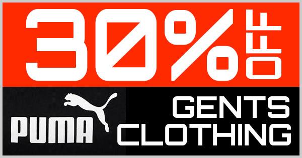 30% Off Puma Gents Clothing