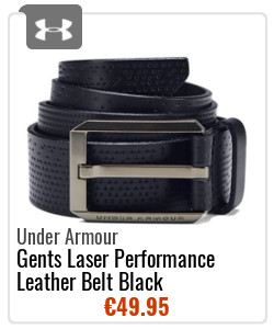Under Armour Gents Laser Performance Leather Belt Black