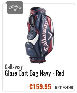 Callaway Glaze Cart Bag Navy - Red