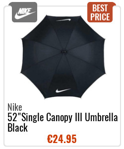"Nike 52"" Single Canopy III Umbrella Black"