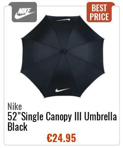 "Nike 52"" Single Canopy III Umbrella Black"