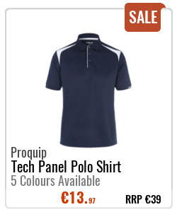 Proquip Gents Tech Panel Polo Shirt
