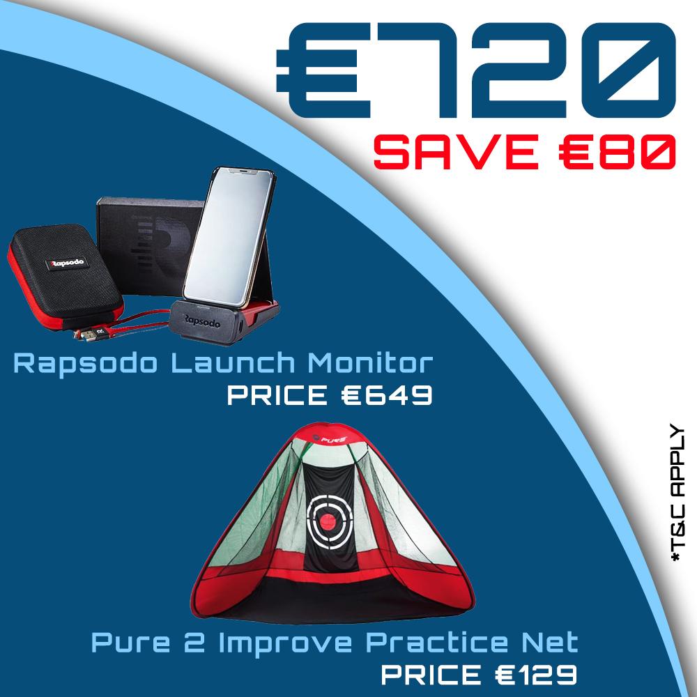 Bundle Offer - Rapsodo Mobile Launch Monitor & Practice Net for €729