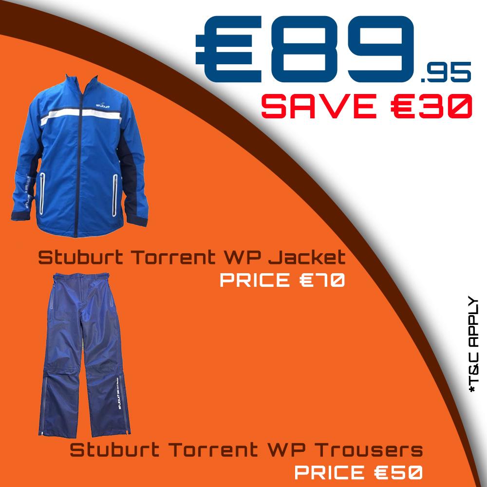 Bundle Offer - Stuburt - Torrent WP Jacket & Torrent WP Trousers for €89.95