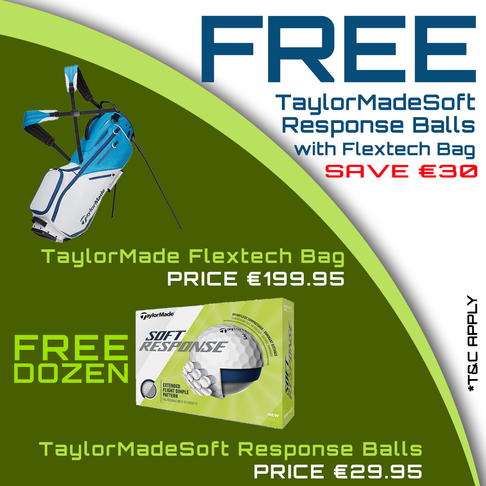 Bundle Offer - FREE TaylorMade Soft Response Balls with TaylorMade Flextech Stand Bag