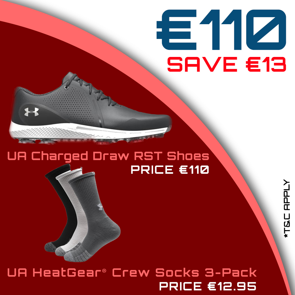 Bundle Offer - UA Gents Charged Draw RST Shoes & UA HeatGear Crew Socks for €110