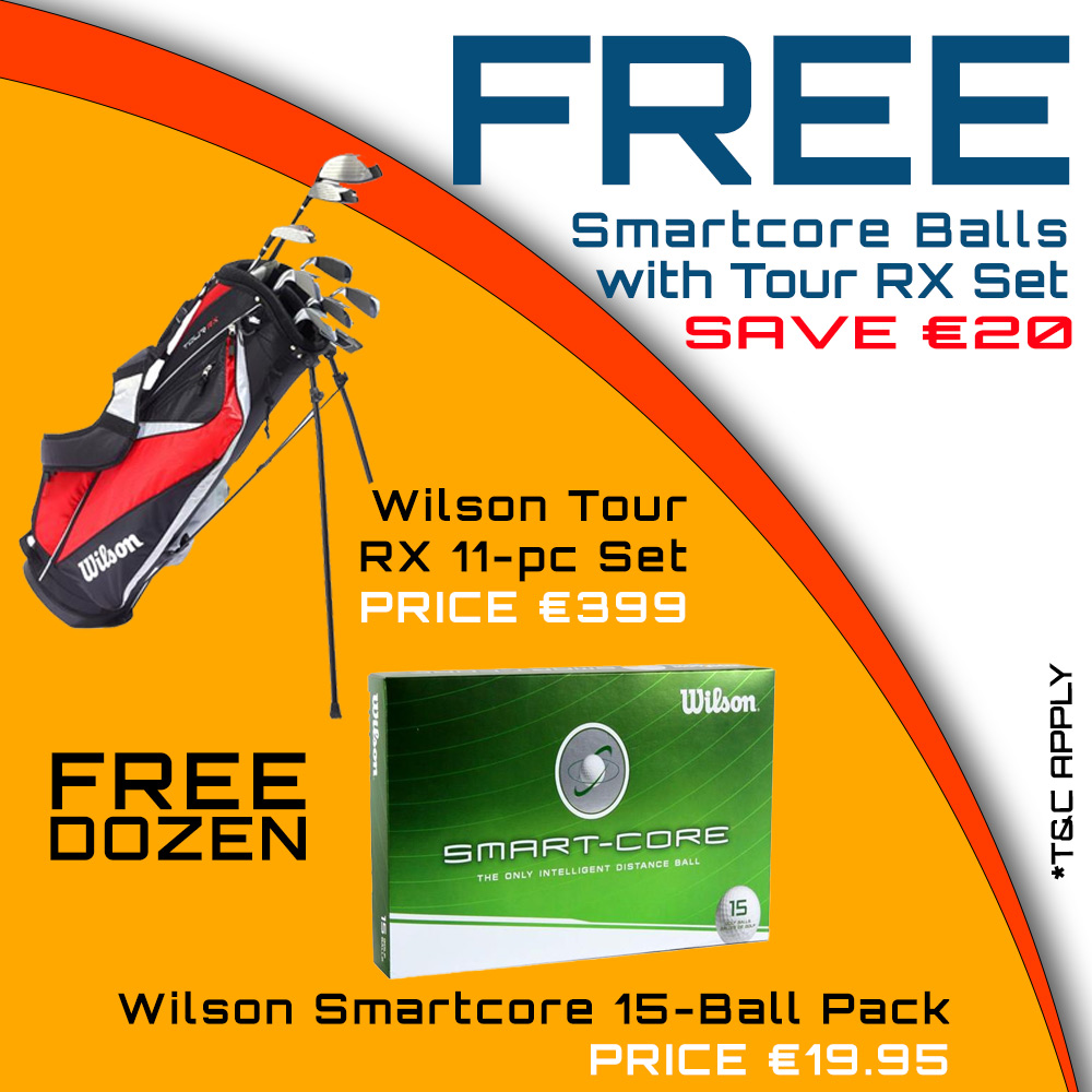 Bundle Offer - Free Wilson Smartcore 15-Ball Pack with Wilson RX Set