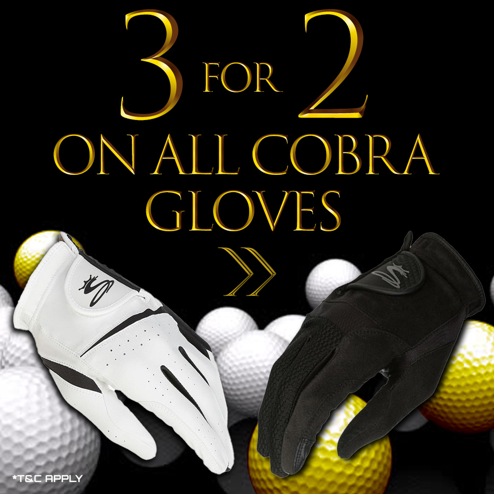 Black Friday Multibuy Offer - Cobra gloves - Buy 3 for 2