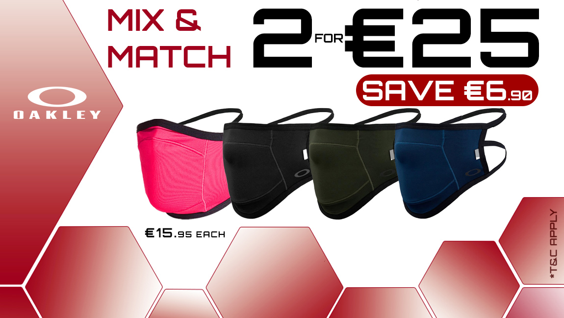 Bundle Offer - Oakley Face Mask Fitted Lite - Buy 2 for €25
