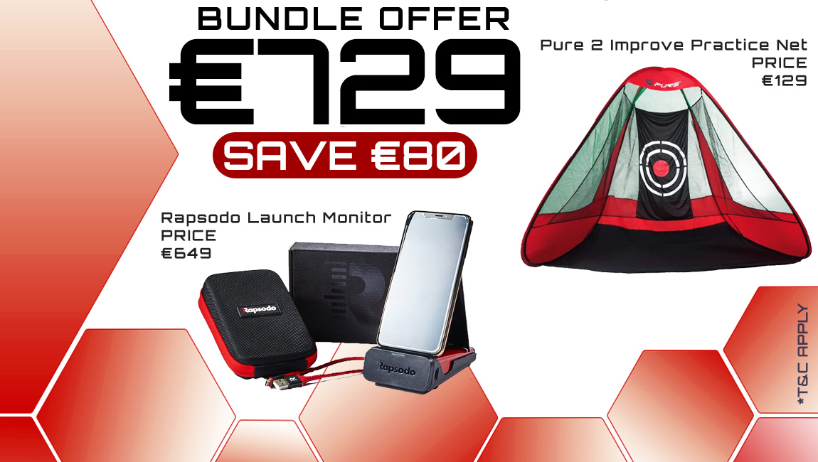 Bundle Offer - Rapsodo Mobile Launch Monitor & Practice Net for €729