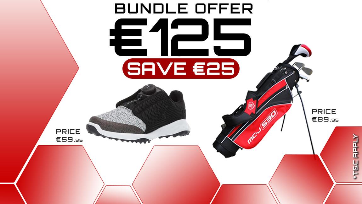 Bundle Junior Offer: Masters Jr Set IJR539 & Puma Jr Shoes 192246 for €125