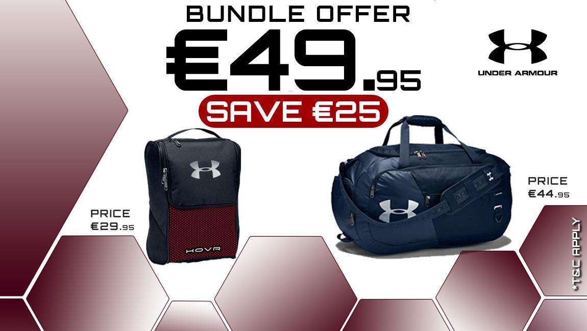 Bundle Offer - UA: Holdall & HOVR Shoe Bag for €49.95
