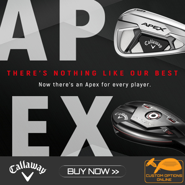 New Callaway Apex Irons and Hybrid available now