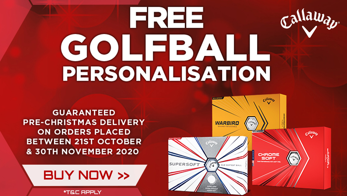 Callaway Christmas FREE Ball Personalisation