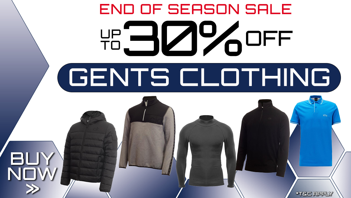End of Season Clothing Sale - Up to 40% of gents clothing
