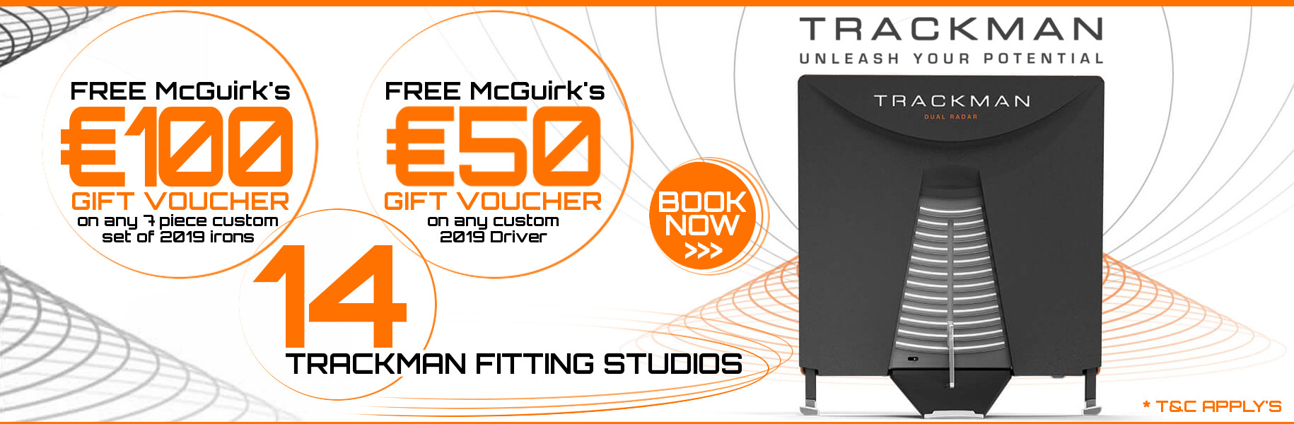 Free gift vouchers with custom fitting