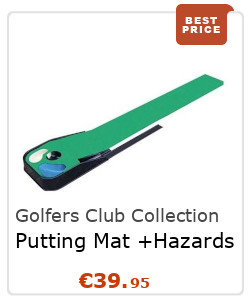 Golfers Club Collection Putting Mat + Hazards