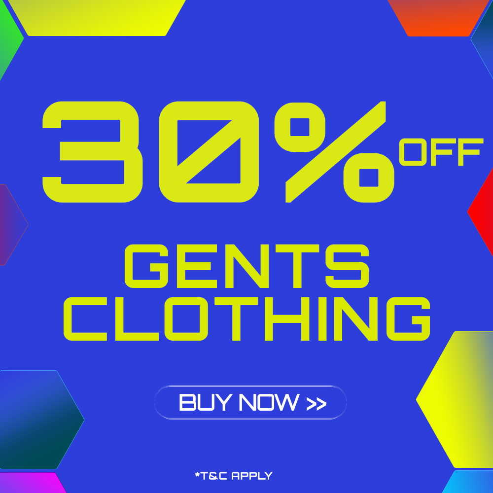 End of Season Clothing Sale - 30% off selected Gents Clothing