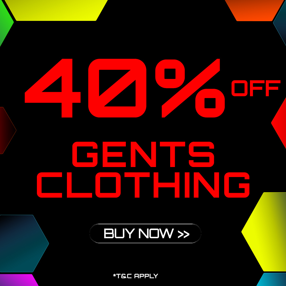 End of Season Clothing Sale - 40% off selected Gents Clothing