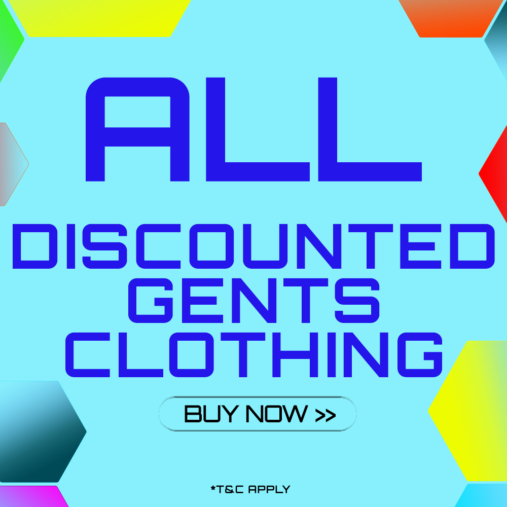 End of Season Clothing Sale - selected Gents Clothing
