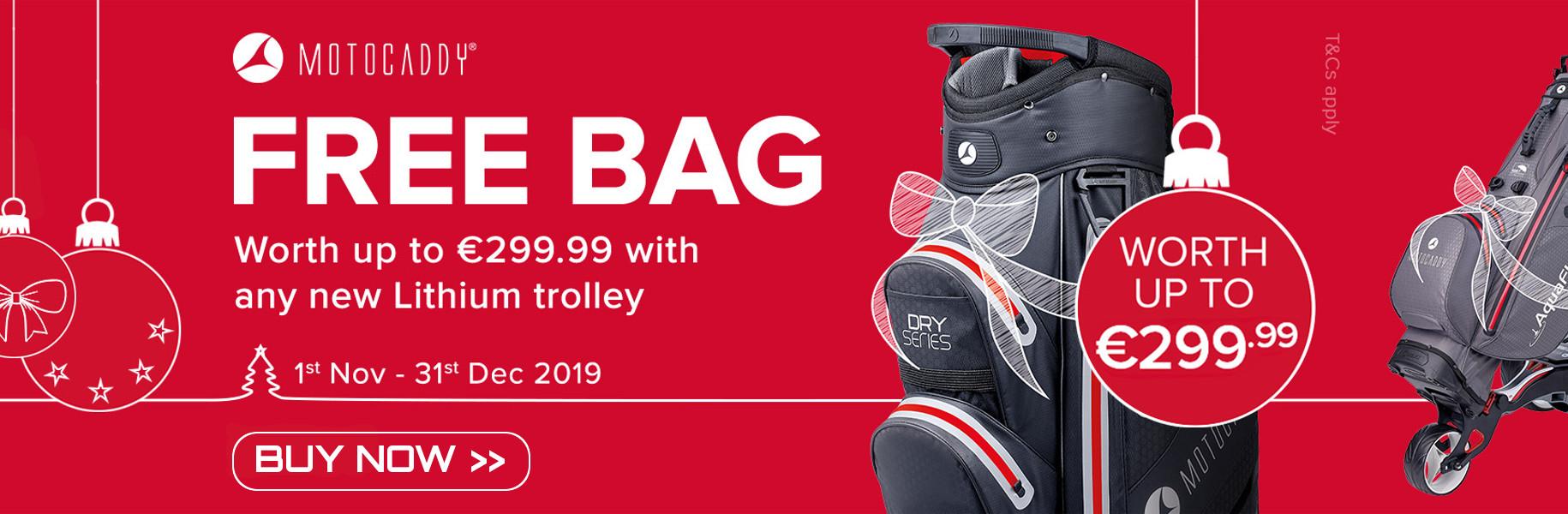 Free Motocaddy Golf Bag for Christmas
