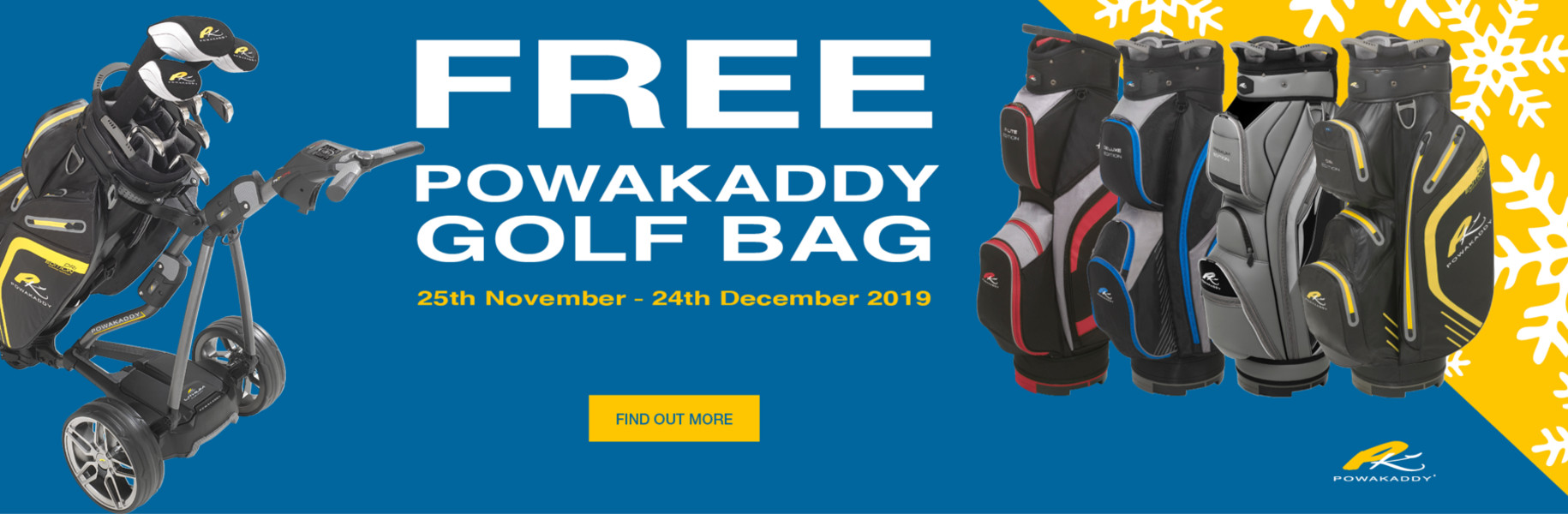 Free Powakaddy Golf Bag for Christmas