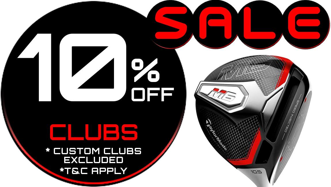 10% Off Golf Clubs