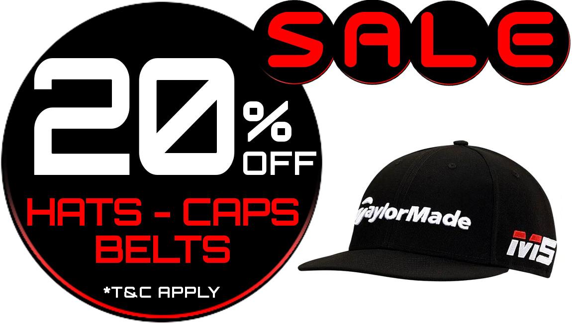 20% Off Hats, CAps and Belts