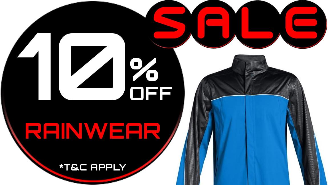 10% Off Rainwear