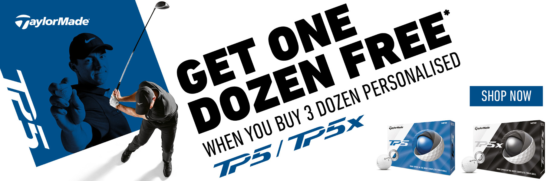 TaylorMade Loyalty Rewarded - FREE DOZEN with this 3 Dozen of Personalised Balls