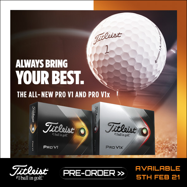 New Titleist Pro-V1 and Pro-V1x 2021 - pre-order now