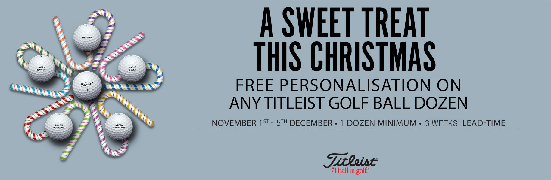 Titleist Ball Personalisation - Christmas Offer