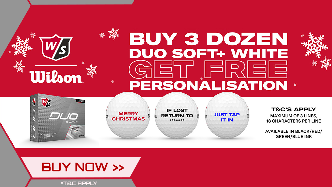 Wilson Christmas FREE Ball Personalisation - Duo Soft+ Golf Balls White
