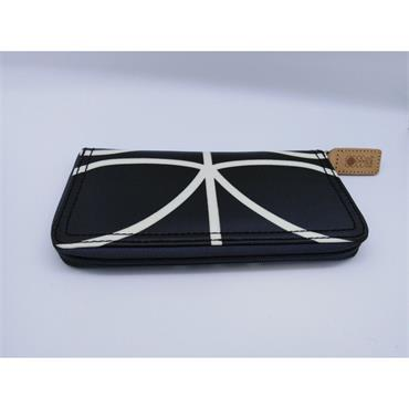 Orla Kiely Big Zip Wallet - Liquorice