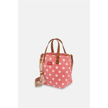 Cath Kidston Small Tote Button Spot Twill - Red