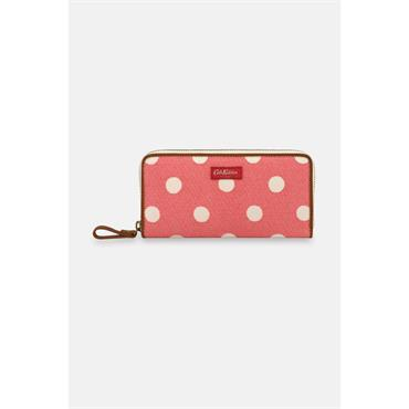 Cath Kidston Button Spot Twill Continental Wallet - Red