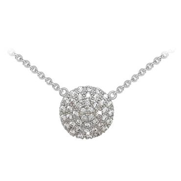 Round pave pendant silver Tipperary Crystal