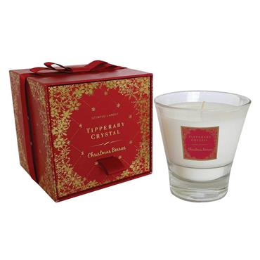 Christmas Berries Candle Filled Tumbler by Tipperary Crystal