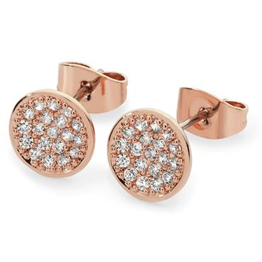Pave Rose Gold Full Moon Earrings Tipperary Crystal